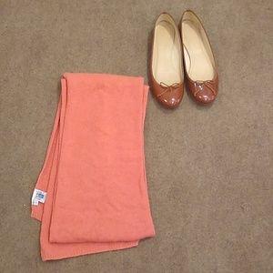 Portolano 100% Cashmere Scarf Peach Color
